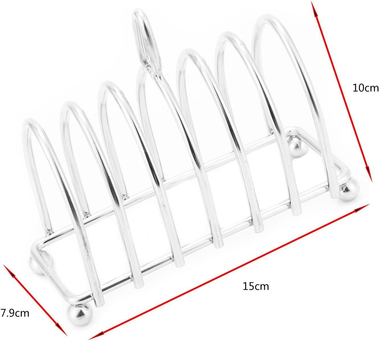 Haudang Hochwertiges Brotgestell aus Edelstahl.6 Scheiben Toast Rack
