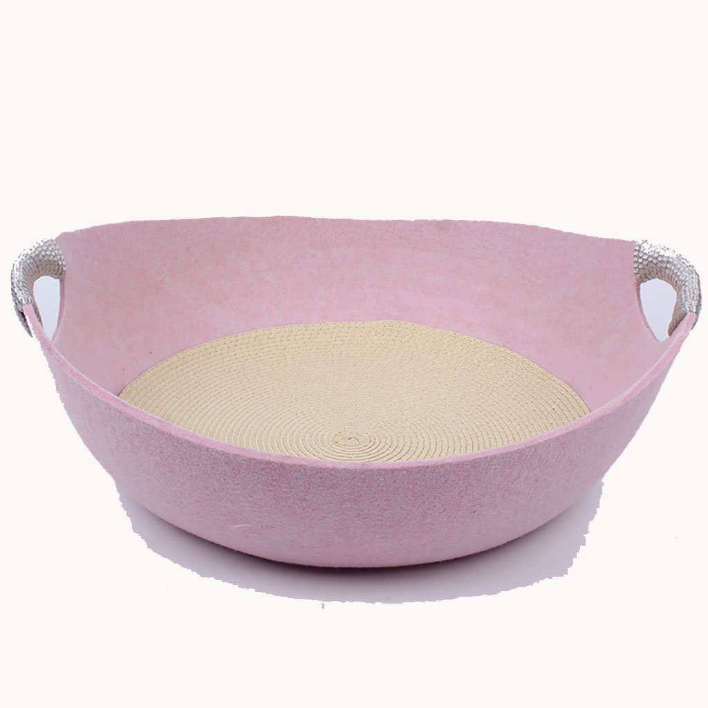 Pink Cat Nest Pet Beds Pet Cave Pet Warm Sleeping Bag Nest Puppy Bed Egg Nest Removable and Washable Semi-Closed Four Seasons Universal (color   Pink)