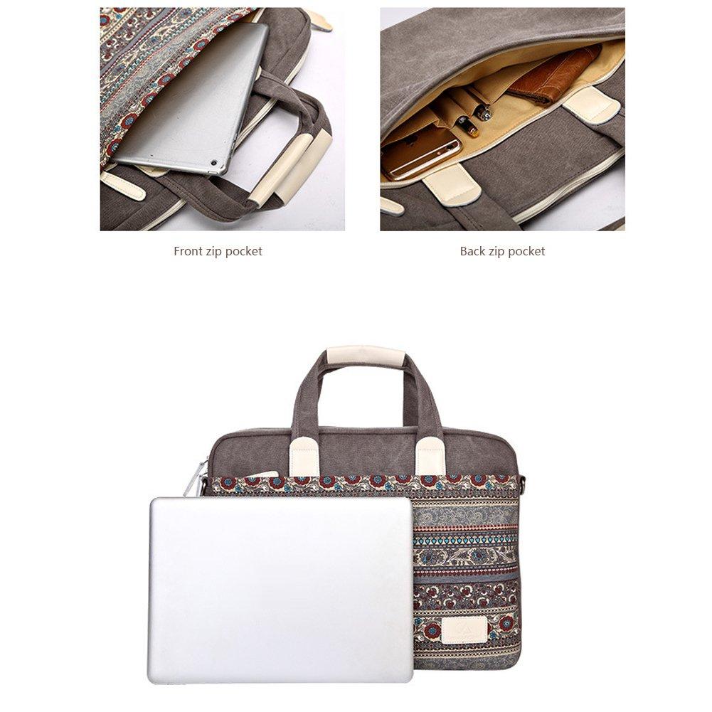 Bolsa de lona Port/átil de 13,3 pulgadas con correa para el hombro funda para laptop para 13,3 pulgadas MacBook Air//Pro Retina//Surface Book//Chromebook//Tablet - azul Feisman 13