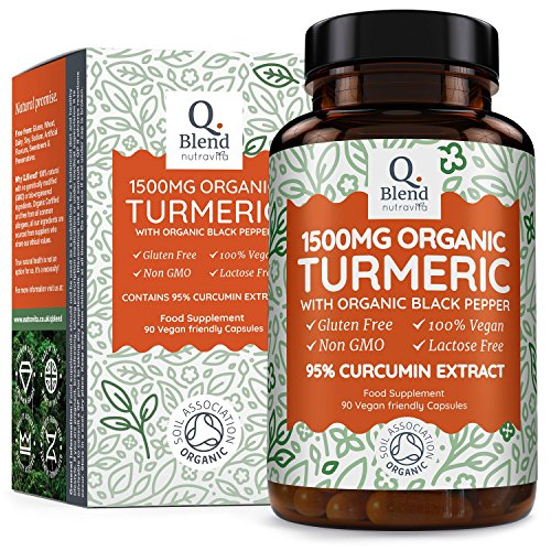Organic Vegan Turmeric with 95% Curcumin 1500mg | Non-GMO & NO EXCIPIENTS...