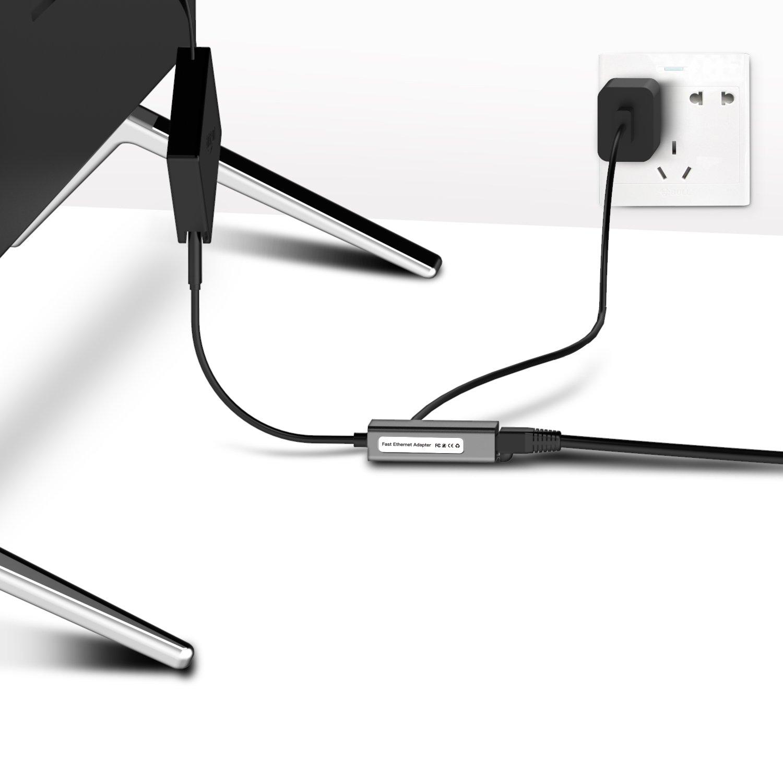 Basstop Ethernet Adapter for TV Sticks, Amazon Fire TV Device, Chromecast Ultra / 2 / 1 / Audio, Google Home Mini, Raspbbery Pi Zero, Micro USB to RJ45 Ethernet Adapter(Gray) by BASSTOP (Image #5)