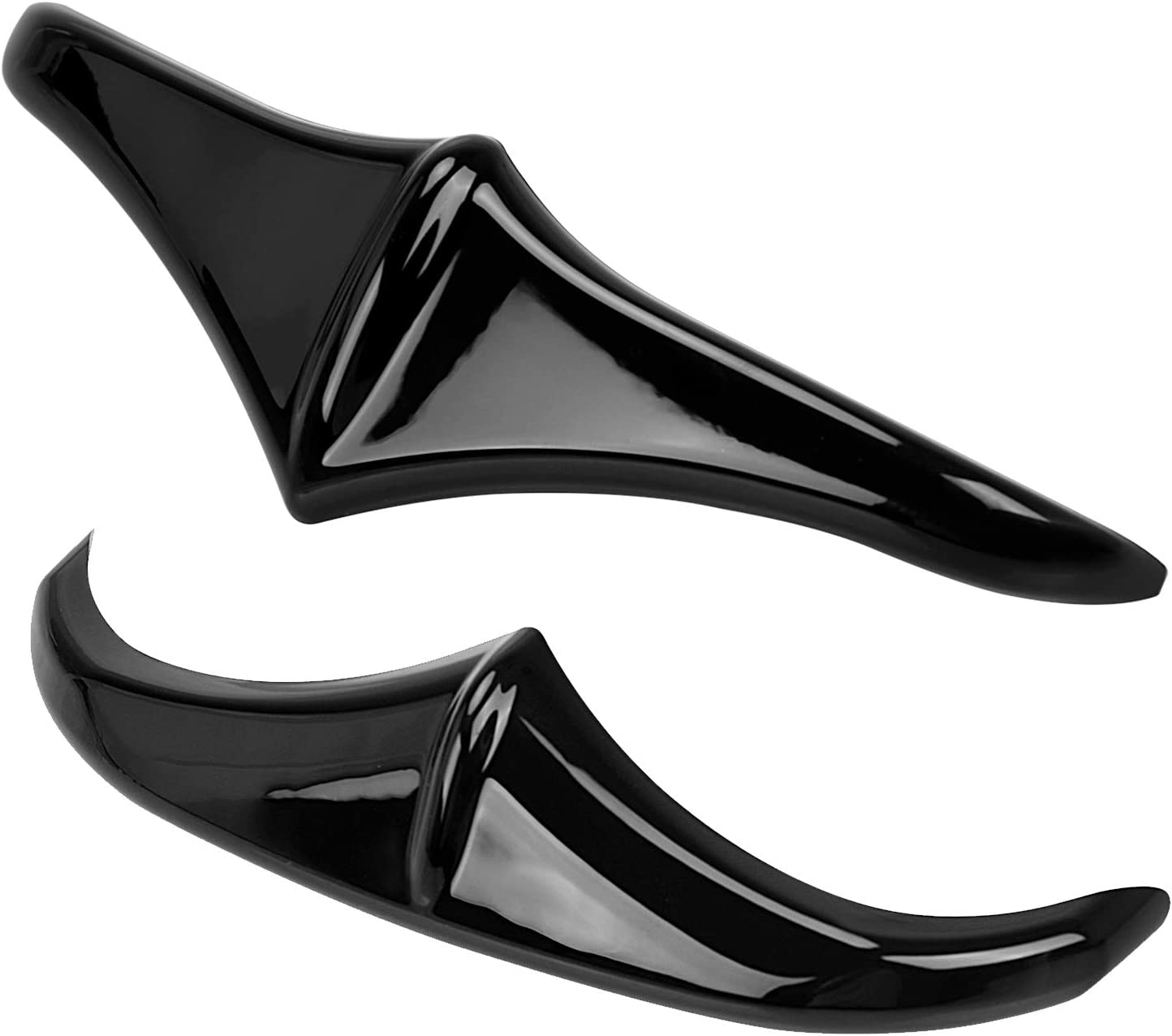 XMMT Motorcycle Leading Edge Front Fender Accent for Harley Touring Street Electra Glides Road King Black 1998-2016