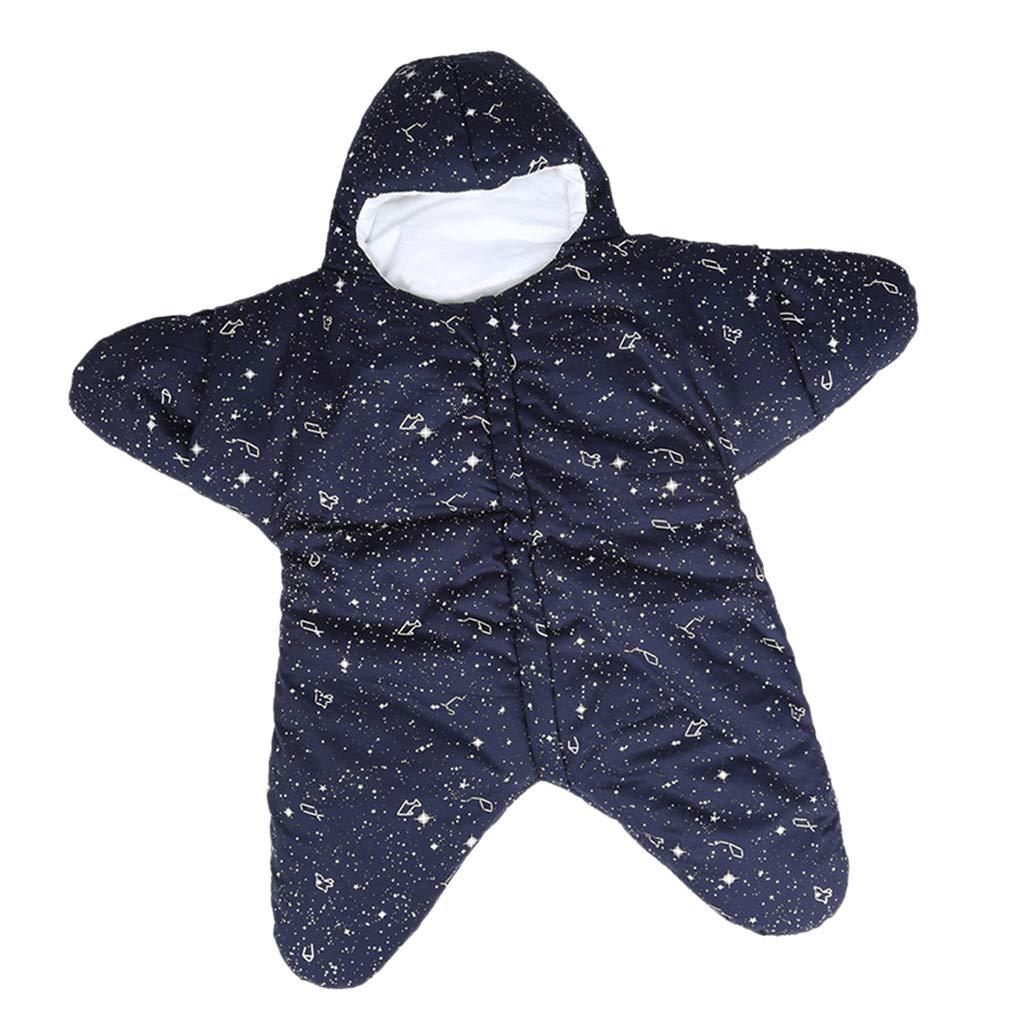 B Baosity Sac de Couchage B/éb/é /Étoile de Mer Coton Super Doux Nouveau-n/é Sleepsack Automne Hiver Chaud Poussettes Lit Swaddle Couverture Wrap