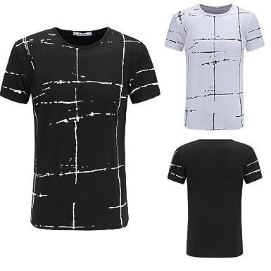 VENMO Camisetas Hombre Camisas Hombre, Casual Camiseta de Manga ...
