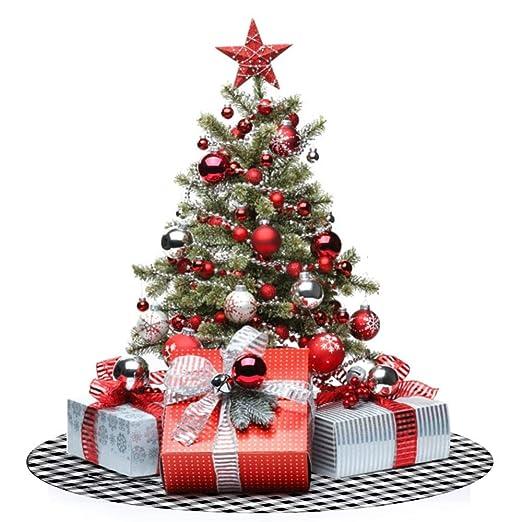 AMDELTO 48 Falda para árbol de Navidad de 50 Pulgadas Tela ...