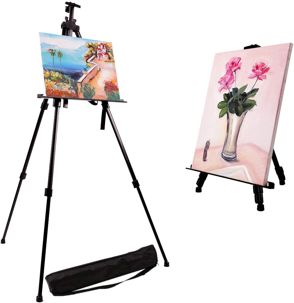 Hold Canvas from 21 to 66 Metall Tripod Stand Easel for Painting Artecho Artist Easel Display Easel Stand 2 Pack