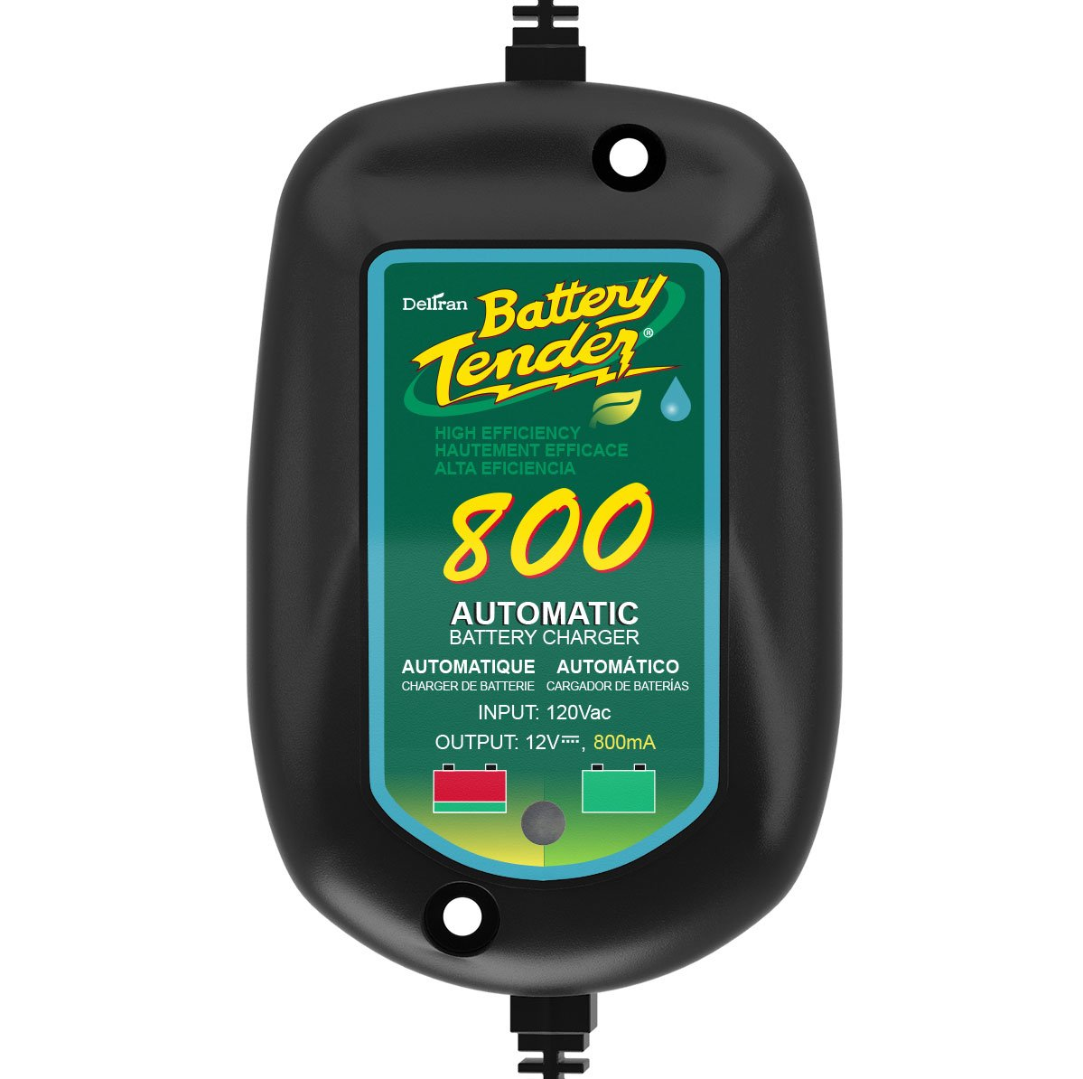 Battery Tender 800 is a SuperSmart Battery Charger that will Constantly Monitor, Charge, and Maintain your Battery. Its Encapsulated and Protected ...