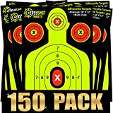 ''150-PACK'' SHOOTING TARGETS, High-Contrasting Yellow & Red Colors Make it Easy to See Your Shots Land, Heavy-Duty Silhouette Paper Sheets - 150 Free Repair Stickers, Close To Wholesale Prices.