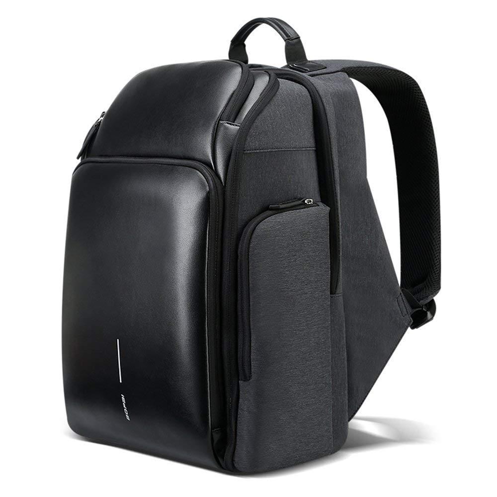 ノートパソコンのバックパック、防水多機能バッグビジネススクールUSB以下のための理想的なレジャー旅行バッグを、充電15.6インチコンピュータ 色:黒、サイズ:L B07PQRS5S4