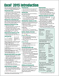Microsoft Excel 2013 Introduction Quick Reference Guide (Cheat Sheet of Instructions, Tips & Shortcuts - Laminated Card) (1936220768) | Amazon price tracker / tracking, Amazon price history charts, Amazon price watches, Amazon price drop alerts