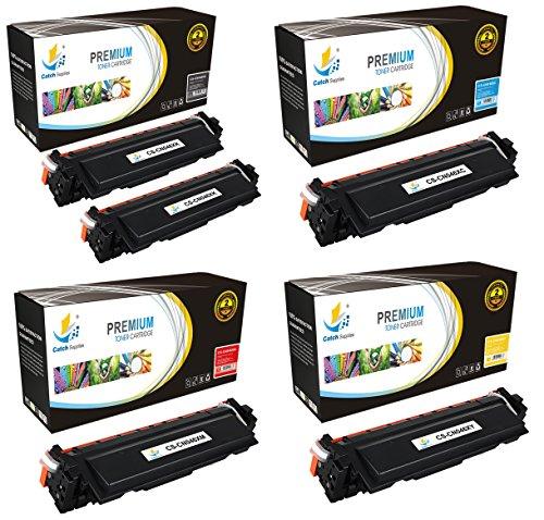 Catch Supplies 046H 5 Pack High Yield Premium Replacement Toner Cartridges Compatible with Canon Color ImageCLASS MF731Cdw, MF733Cdw, MF735Cdw, LBP654Cdw  2 046HK, 046HC, 046HM, 046HY  -  CS-CN046X-5PK
