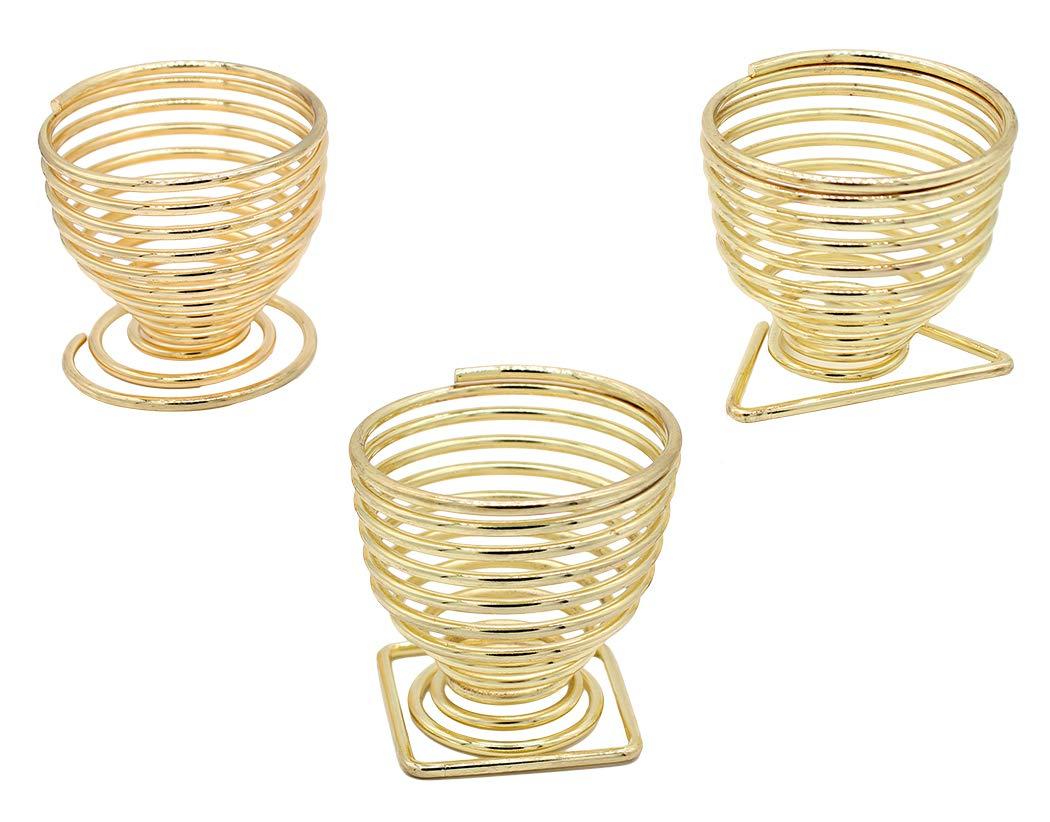 Xiaoyu portaesponjas de maquillaje, estantes de secado para expositores de polvo de huevo, estante para herramientas cosmé ticas, paquete de 3, dorado estante para herramientas cosméticas