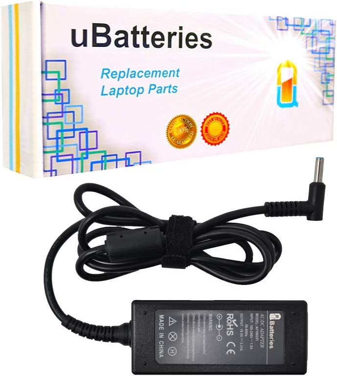 Batteries 19.5V 45W Compatible with 741727-001 740015-004 - AC Adapter Charger Cord Replacement for HP 11 14 15 17, HP Envy 13 14 14T 15 15T M6, HP Pavilion 10 11 13 14 15 17 Series