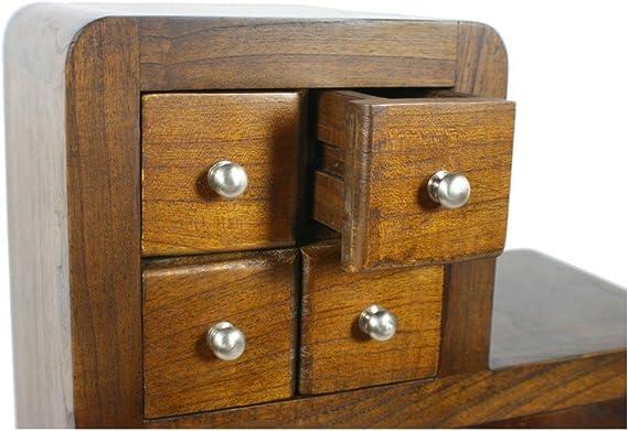 CAL FUSTER - Mueble Auxiliar de Madera Mindi Color castaño Forma Escalera. Medidas 100x99x25 cm.: Amazon.es: Hogar