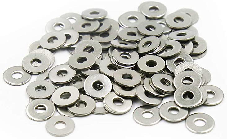 Screw Plain Washer Rust-Resistant SS 200 Pieces M3 M4 Flat Washer Gasket