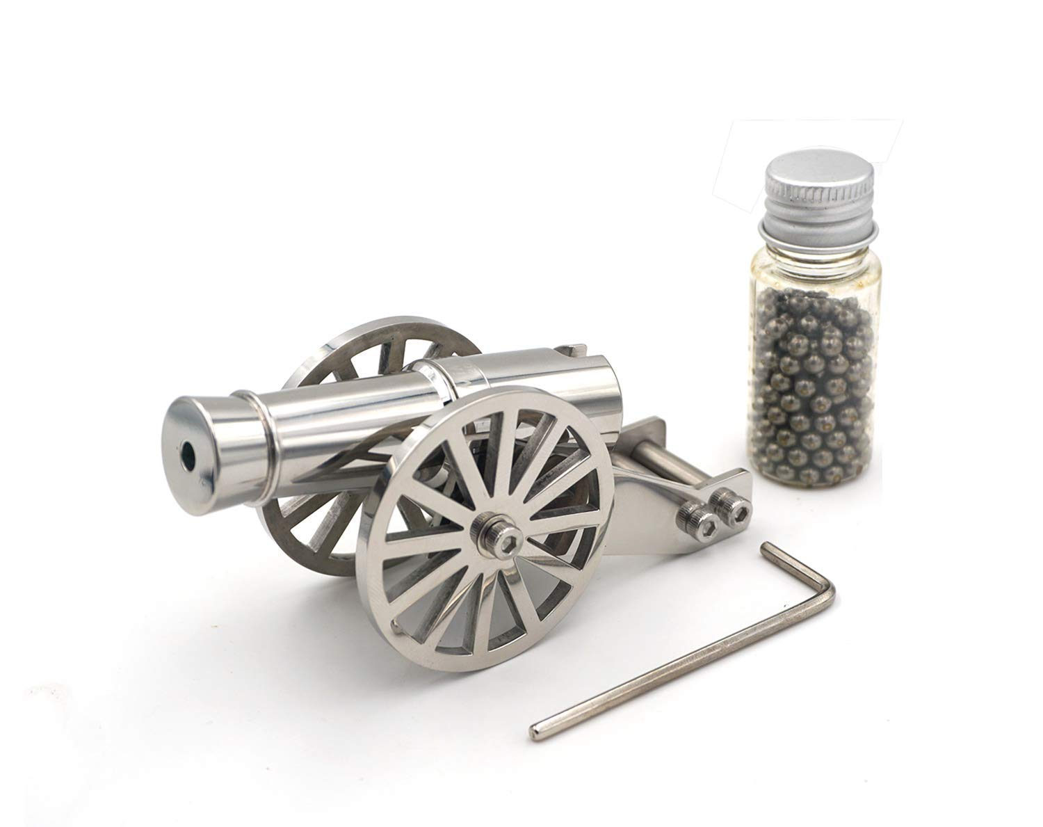 weccesory Miniature Napoleon Cannon Metal Naval Desktop Model Artillery Kit for Collection by weccesory