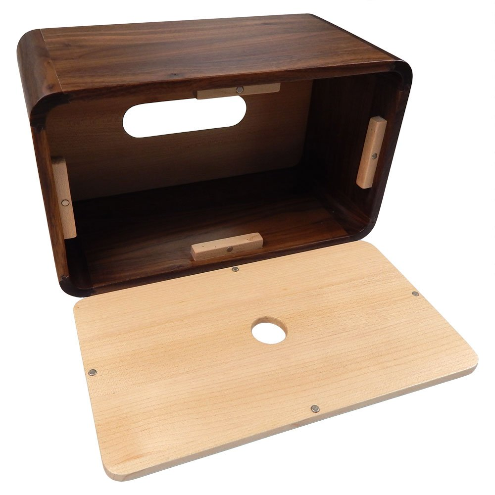 Tomokazu Lombard Maple and Walnut Wood Large Rectangular Facial Tissue Box Cover/Wooden Holder/Paper Dispenser by Tomokazu (Image #4)