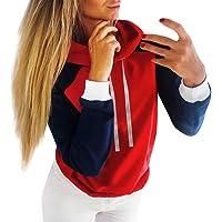 Riou sweater à Capuche Hiver Chaud, Sweat à Capuche,Sweat-Shirt uni à Capuche pour Femmes avec Cordon de Serrage et Chemisier à Manches Longues
