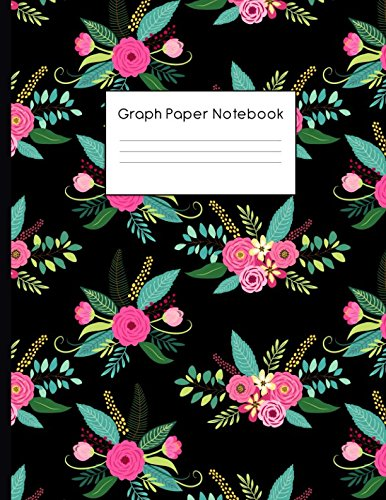 Graph Paper Notebook: Hand Drawn Floral Pattern Quad Ruled 4 x 4 (.25'') Composition Book for Math & Science Students and Teachers
