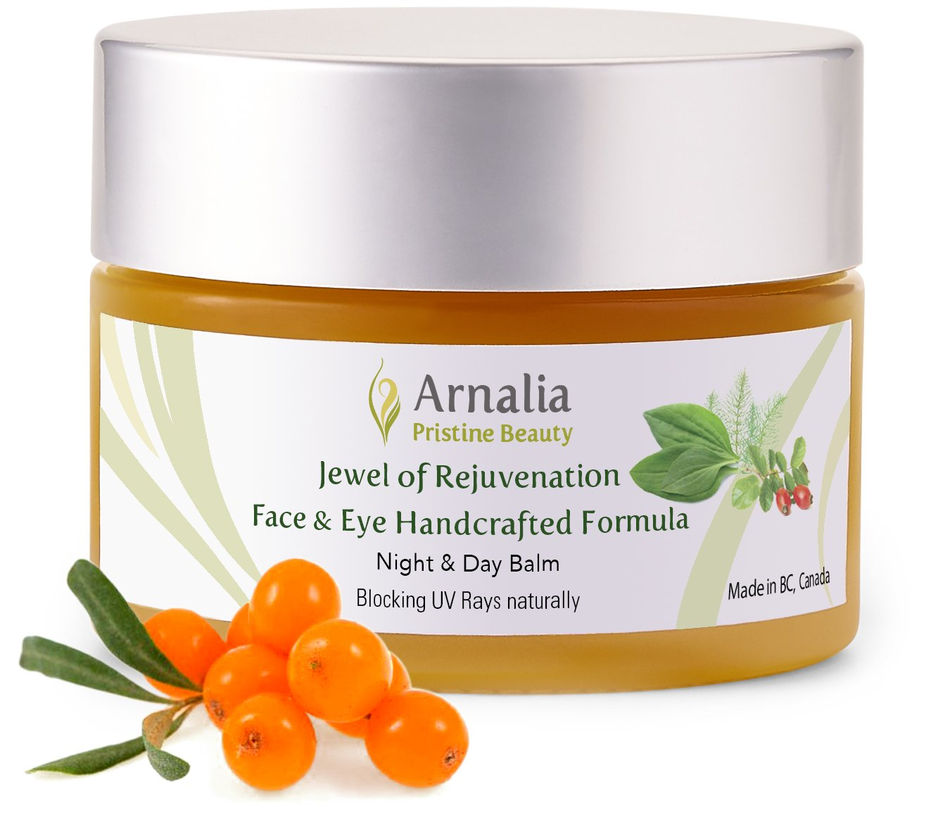 ARNALIA 100% Natural & Organic Wild Herbs, Eye & Face Emollient Anti Wrinkle, Anti Aging, Age Spot Moisturizer Cream, Firming, Hydrating, Under Eye, Boosts Collagen, Vitamins A & E from Sea Buckthorn, Siberian Cedar Nut (Pine Nut) & Rosehip