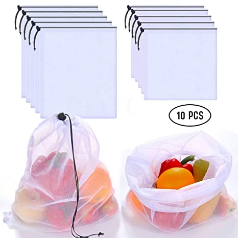 Amazon.com: Bolsas de producción reutilizables lavables (10 ...