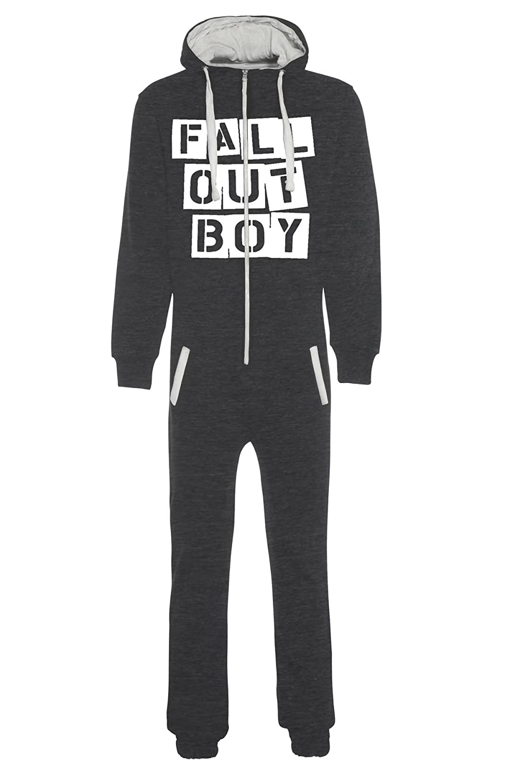 aejays Unisex Fall Out Boy Printed Onsie Color Charcoal Size L
