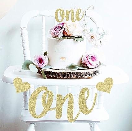 Amazon.com: Juego de decoración para primer cumpleaños con ...