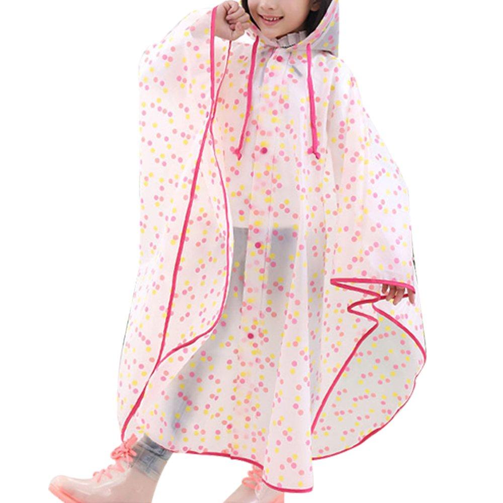 BOZEVON Bambini Pioggia da mantello in stile mantello Impermeabile Outwear impermeabile