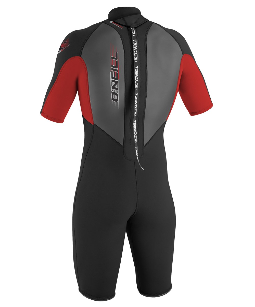 O'Neill Youth Reactor 2mm Back Zip Spring Wetsuit, Black/Red/Black, 6 by O'Neill Wetsuits (Image #3)