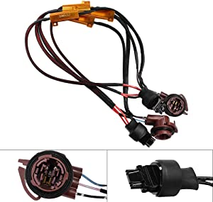 HUIQIAODS 50W 6Ohm Error Free 3157 3155 3357 4157 LED Light Load Resistor Adapter Fix Hyper Flashing Blinking Canbus Error Warning Canceller for Turn Signal Tail Brake Lights 2PCS