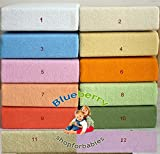 BlueberryShop 2x TERRY TOWELLING FITTED SHEET TODDLER BED BABY COTBED 60 X 120 cm (235