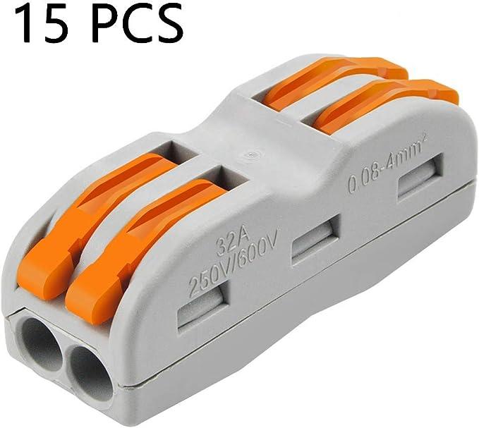 Conectores de cable de palanca, 15 unidades, SPL-2, conector de ...