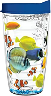 product image for Smile Drinkware USA-TROPICAL FISH 16oz Tritan Insulated Tumbler With Lid and Straw