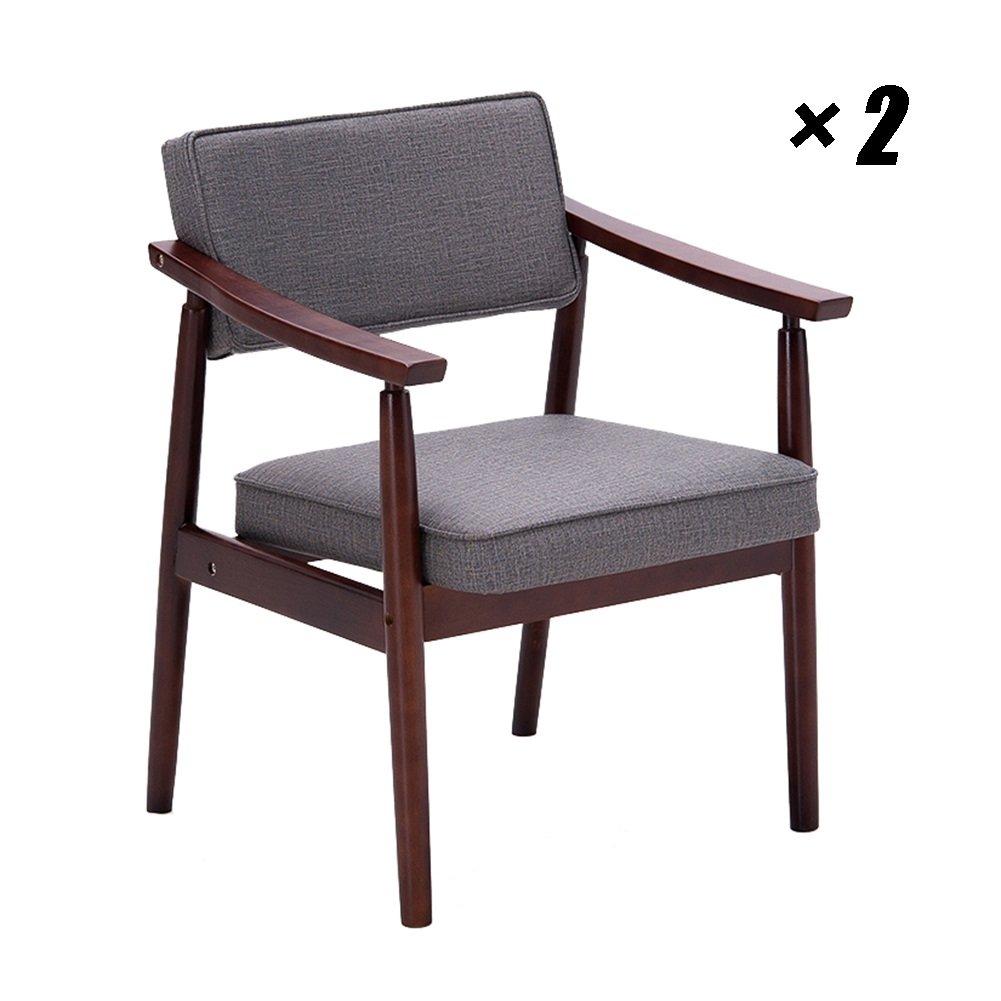 シンプルなカフェチェアソリッドウッドダイニングシートキッチンパッディングチェア、家庭用、ラウンジ、会議用59×61×76cm (色 : Style 2, サイズ さいず : Set of 2) B07F9LGJRY Set of 2 Style 2 Style 2 Set of 2