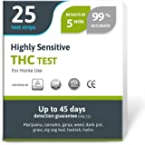Highly Sensitive Marijuana THC Test Kit - Medically Approved Drug Test Strips for Detecting Any Form of THC in Urine up to 45