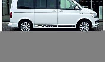 Supersticki Transporter T4 T5 T6 Multivan Seitenstreifen Racing Stripes Beidseitig Aufkleber Autoaufkleber Tuningaufkleber Hochleistungsfolie Für Alle