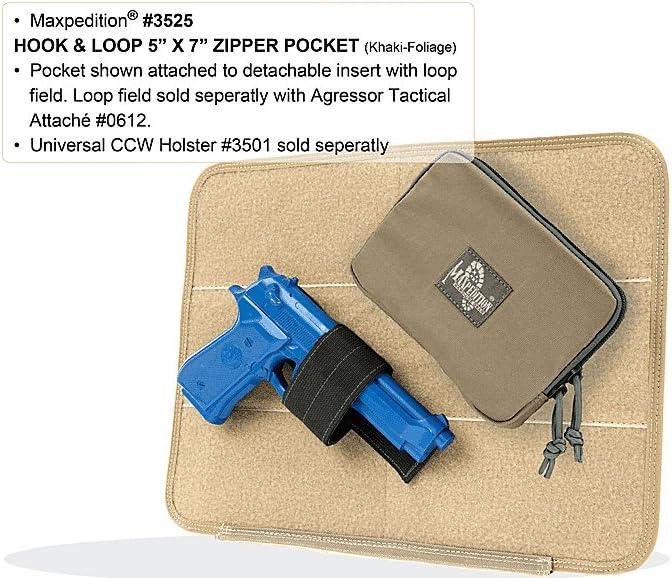 Maxpedition Hook /& Loop 5 x 7 Zipper Pocket