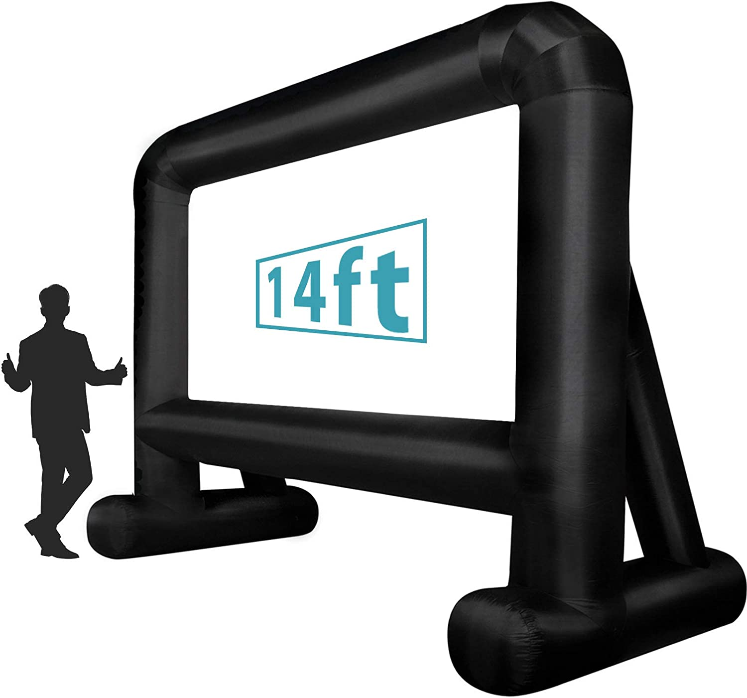 Inflatable Movie Screen (14 Feet) Blow up Mega Projector Screen with Carry Bag for Front Projection