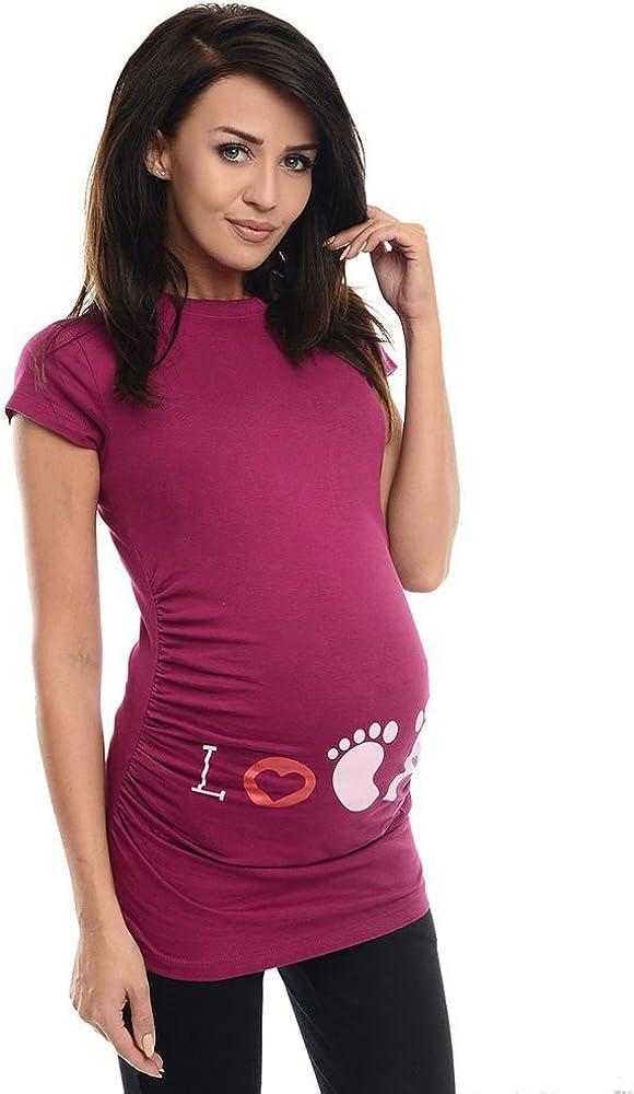 Damen Sommer Kurzarm Umstandsmode Lustige Baumwolle Weste Tops Witzige s/ü/ße Umstandsmode T-Shirt Schwangere Frauen Baby in der Tasche T-Shirt Top Oberteil f/ür Schwangere