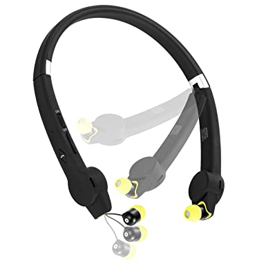 aivant a prueba de sudor bluetooth auriculares retráctil auriculares inalámbricos auriculares Bluetooth banda para el cuello