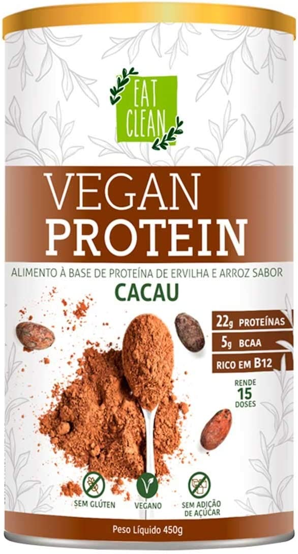 Vegan Protein Cacau Eat Clean Lata