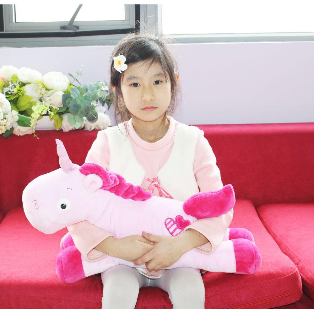 White, 20in//50CM Missley Unicorn Emoticon Cuscino Peluche Bambola Giocattolo Peluche Divano Letto Decor Unicorn Gift