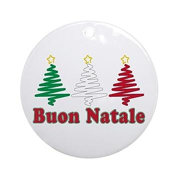 Buon Natale Ornament.Amazon Com Cafepress Buon Natale Ornament Round Round Holiday