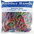 DDI 703540 Assorted Dimensions 227g- 0.5 lbs. Rubber Bands