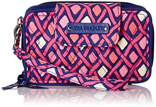 Vera Bradley Smartphone Wristlet 2.0 Wallet, Katalina Pink Diamonds, One Size