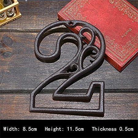 YMYGCC Numeri civici Fusioni Industriale Ferro Casa Numero American Style Porta Numeri di indirizzo Numero for la casa Ristorante Parete del Soggiorno 562 Color : 5, Size : 11.5cm*8.5cm