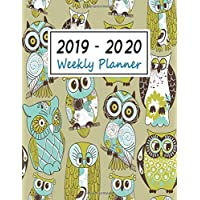 """2019 - 2020 Weekly Planners: Two Year Schedule Organizers (8.5"""" x 11"""") - Design 1 Owl Cover 1: Volume 1 (Planners & Notebooks - Owls)"""
