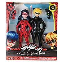 Bandai - Miraculous - Pack 2 poupées - Ladybug et Chat Noir - 26 cm - Rouge/Noir