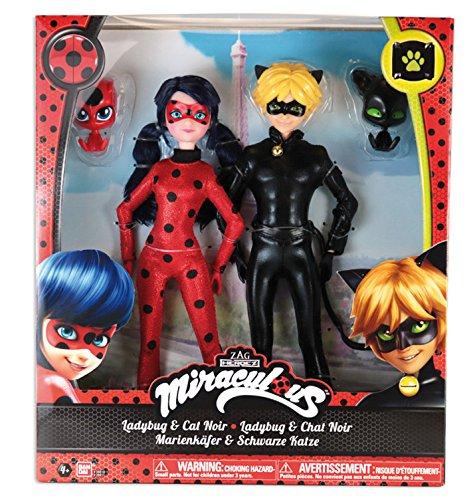Bandai 39810 Puppen Ladybug und Cat Noir