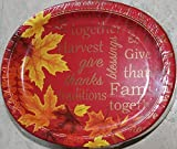 Thanksgiving Autumn Leaves Oval Paper Plates (Large) - 10  X 12  - & Amazon.com: Thanksgiving Disposable Dinnerware Set for Your Holiday ...